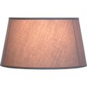 Abat-jour forme tambour en tissu gris D18cm-COLORAMA