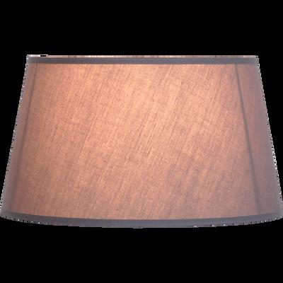 Abat-jour forme tambour en tissu gris (plusieurs tailles)-COLORAMA