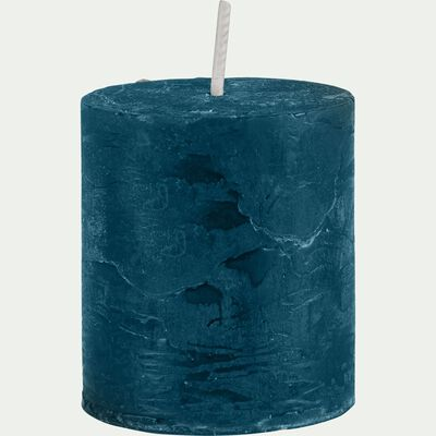 Bougie votive coloris bleu figuerolles H4,5cm-BEJAIA