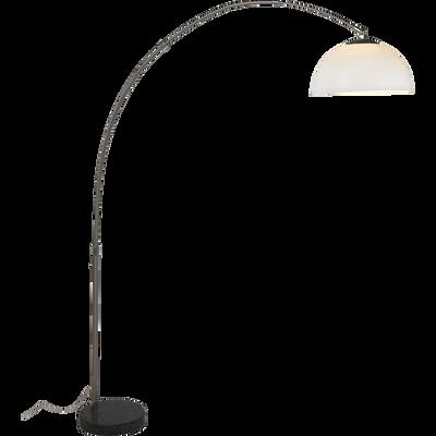 Lampadaire forme arc en métal chromé H180cm-Arco