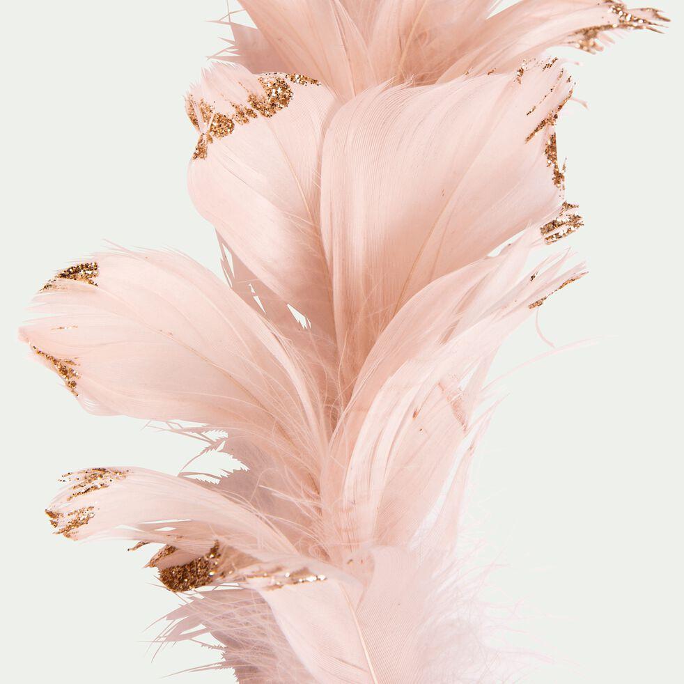 Guirlande de noël en plume rose pâle L150cm-DAO