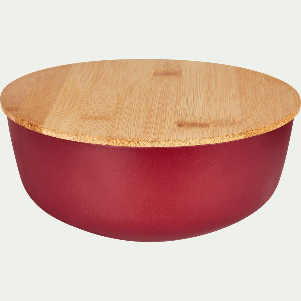 Saladier en fibre de bambou rouge D20,5cm-TREZ