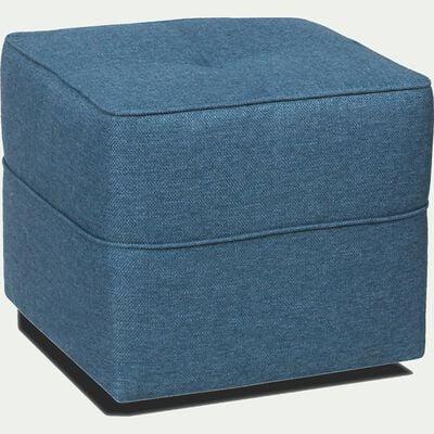 Pouf en tissu bleu figuerolles-VICKY