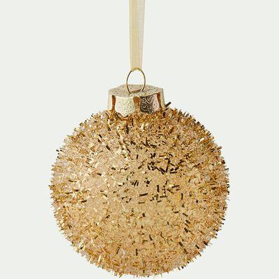 Boule de Noël dorée D8cm-BAUBLE
