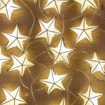 Guirlande étoilée lumineuse L380cm-GARDIOLE