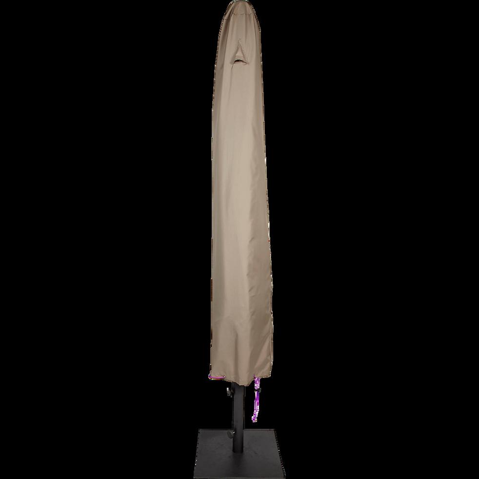Protection taupe pour parasol (L31xP31xH200cm)-HOUSSE