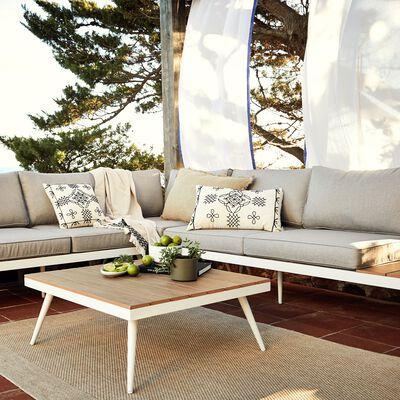 Salon de jardin gris en alu et polywood (4 à 6 places)-CHARLY