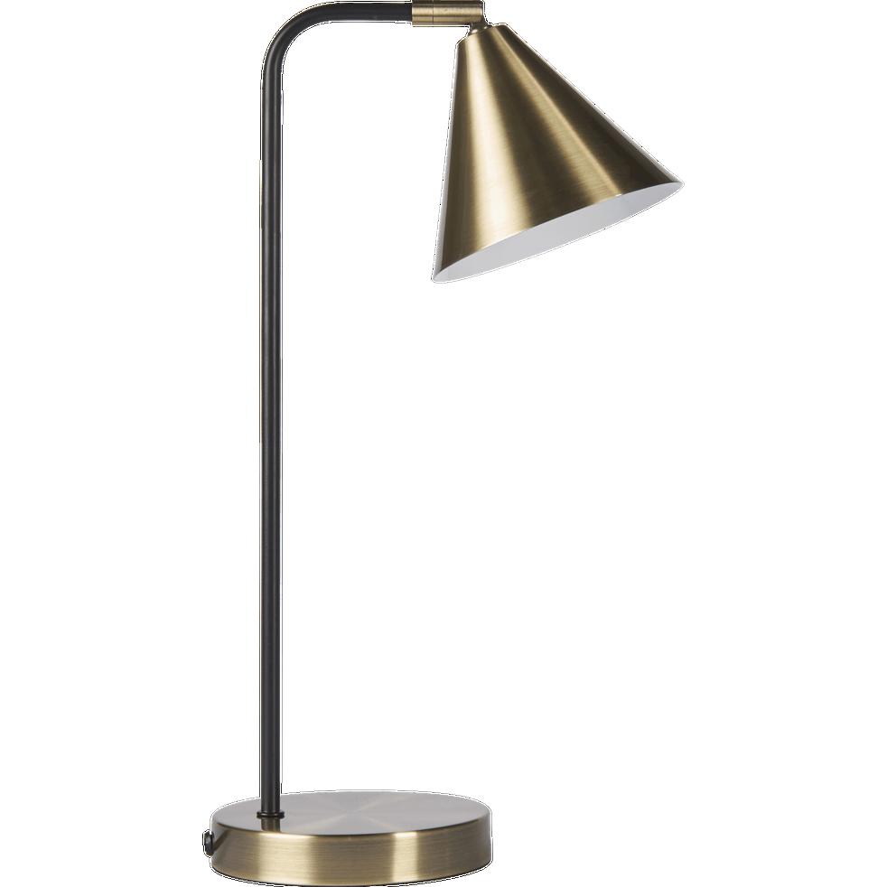 Lampe en métal doré H43cm-JORDA