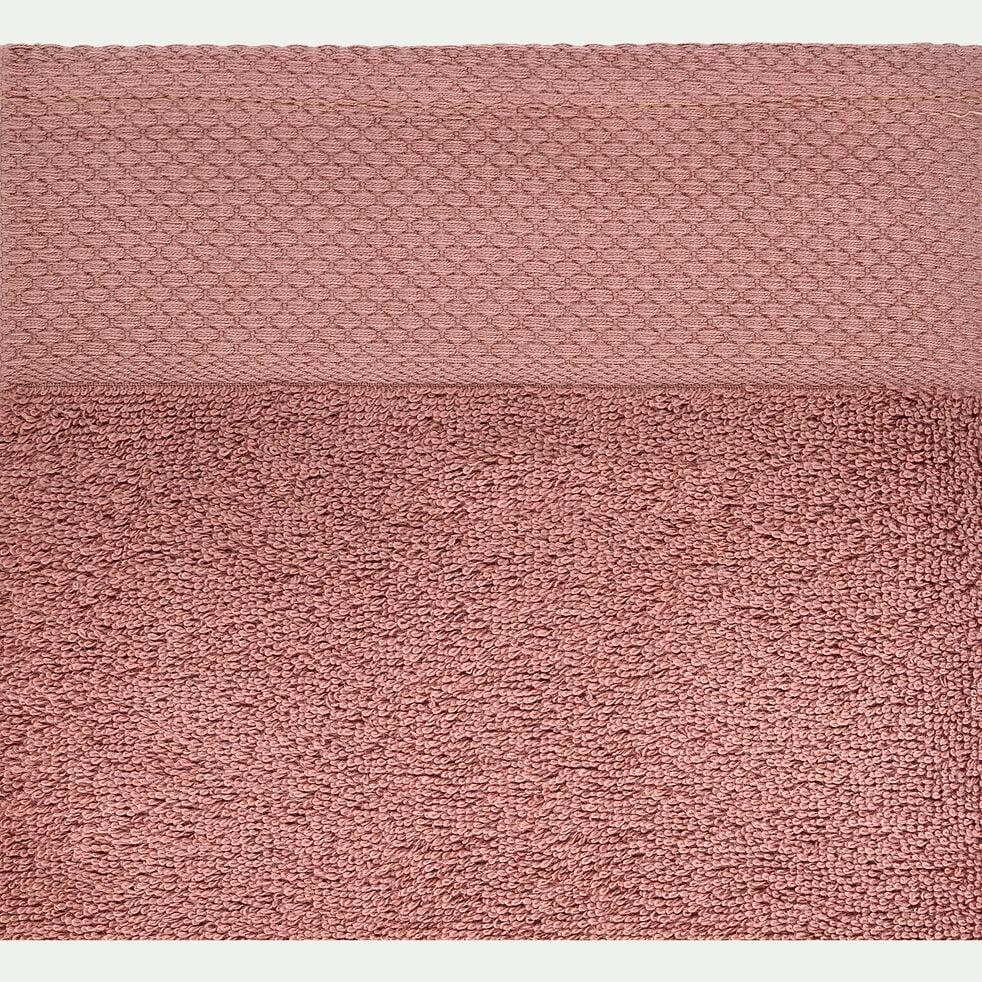 Drap de bain en coton peigné - brun rhassoul 100x150cm-AZUR