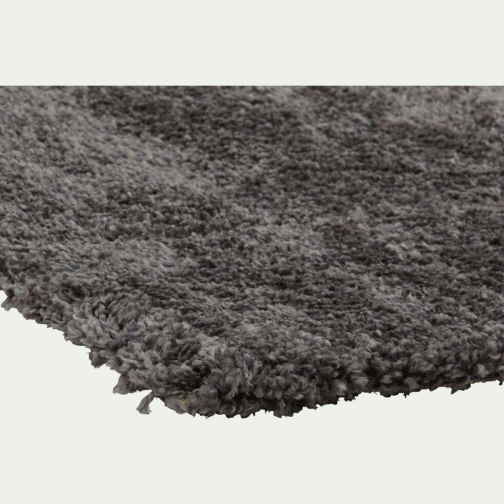 Descente de lit à poils longs - gris 60x110cm-Kris