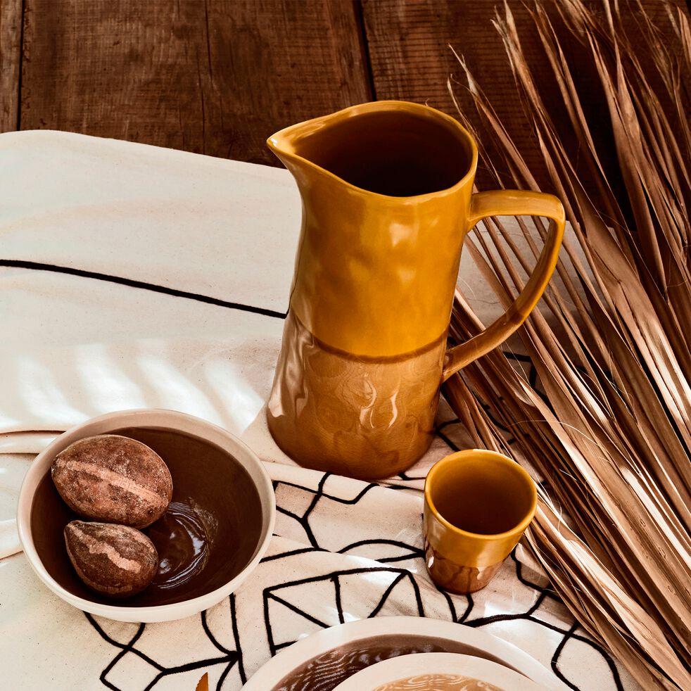 Pichet en grès - caramel 1,6L-GIZEH