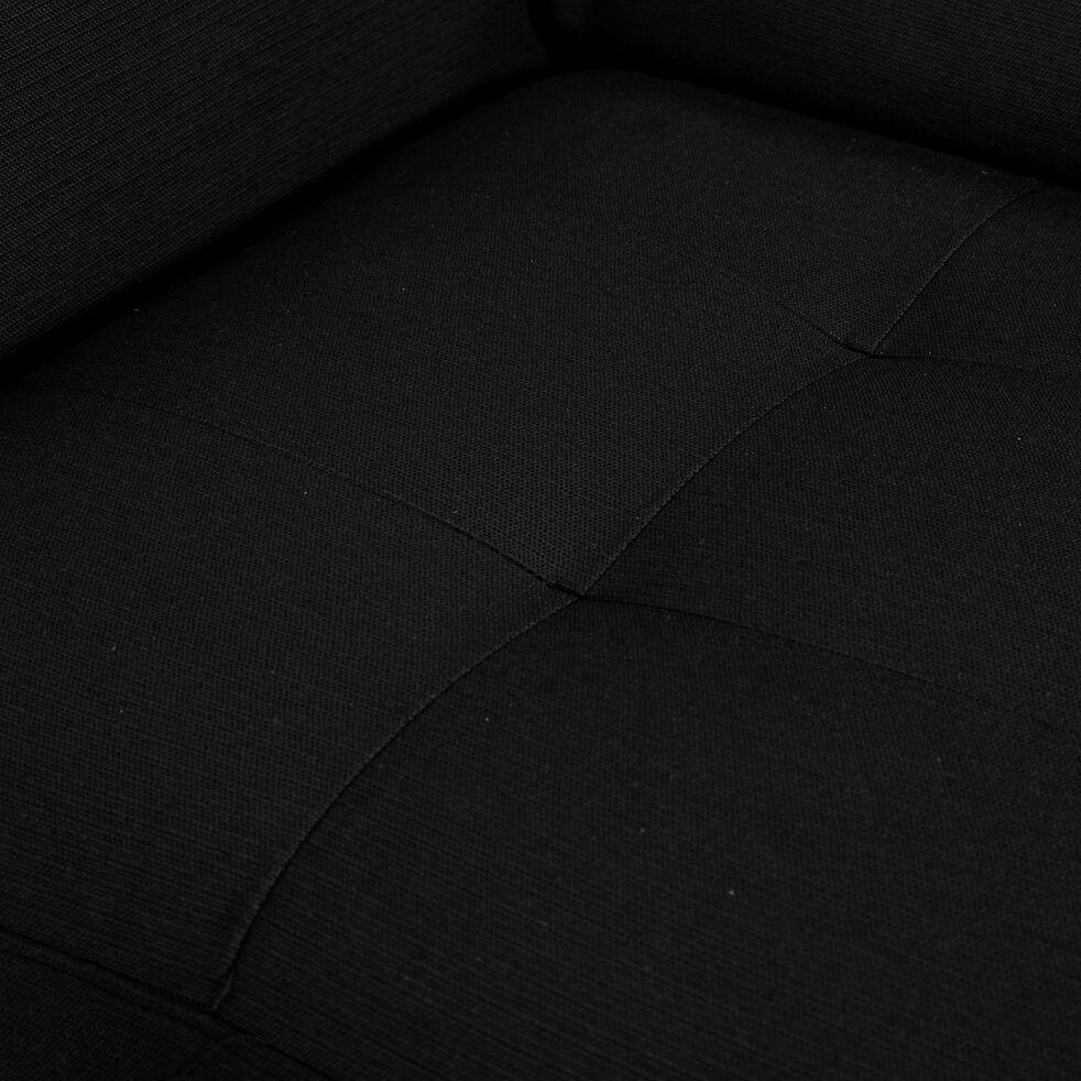 Canapé 3 places fixe en tissu avec accoudoir 15cm - gris anthracite-MAURO