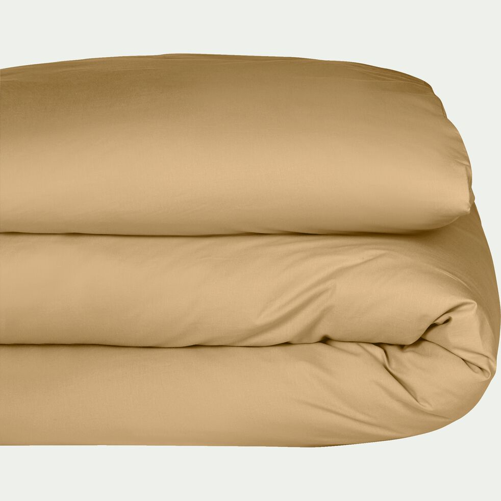 Housse de couette en coton - beige nèfle 140x200cm-CALANQUES