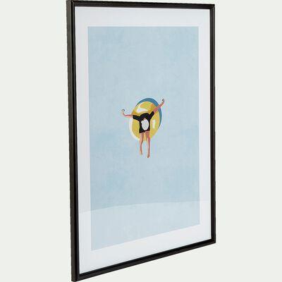Cadre en chêne et image mer - 40x50cm noir-TERRIS