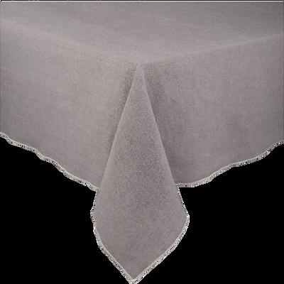 Nappe rectangulaire en lin et coton gris 170x250cm-OVER