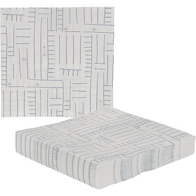 Lot de 20 serviettes jetables en intissé blanc 40x40cm-SOUK