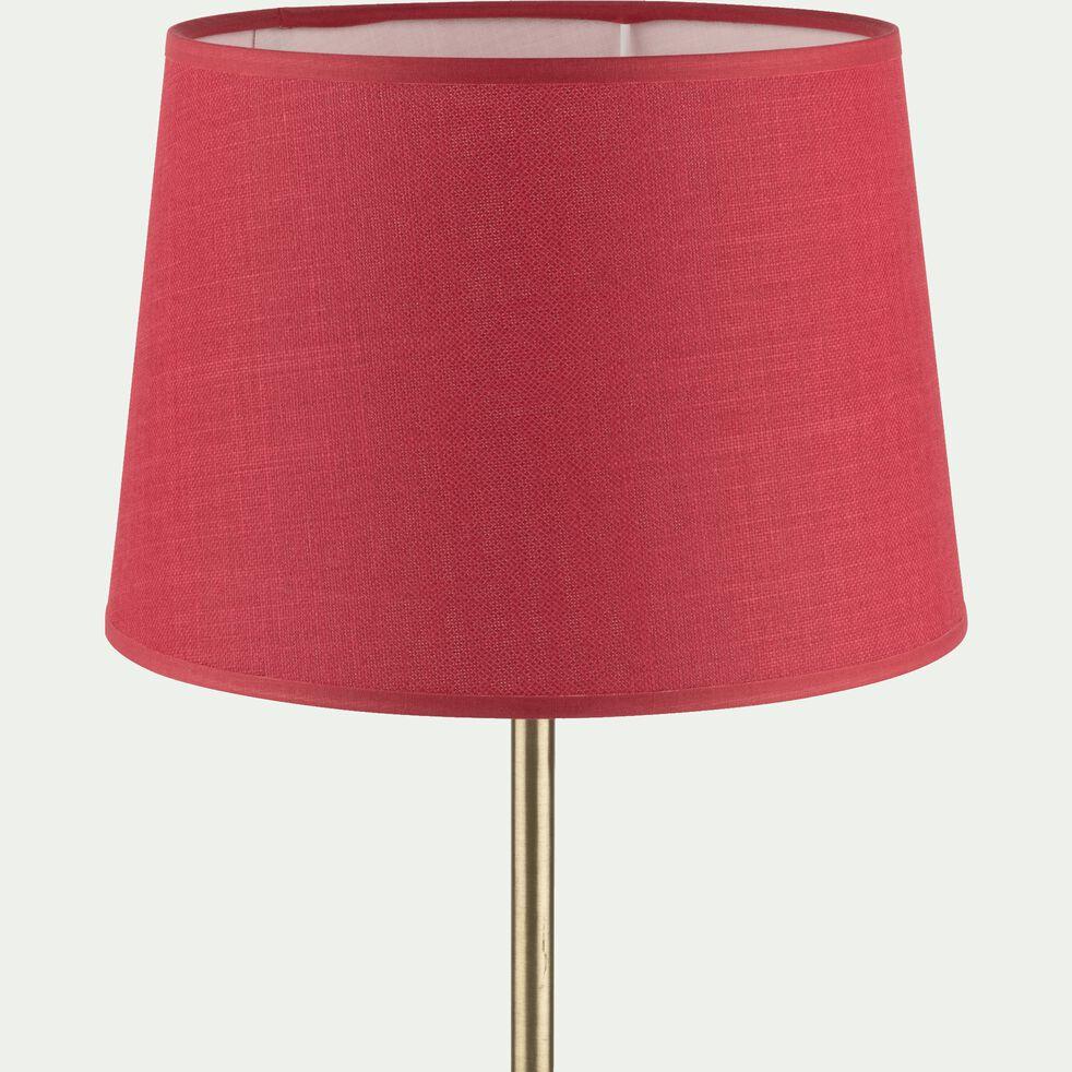 Abat-jour tambour en coton - D23cm rouge arbouse-MISTRAL