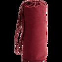 Drap housse en coton lavé rouge sumac 90x170 cm-CALANQUES