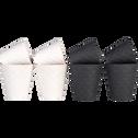 Tasse en porcelaine gris anthracite 17.5cl-NATTE