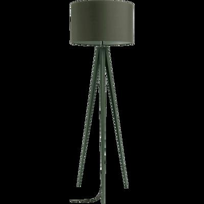 Lampadaire en métal vert cèdre H156cm-TRIX
