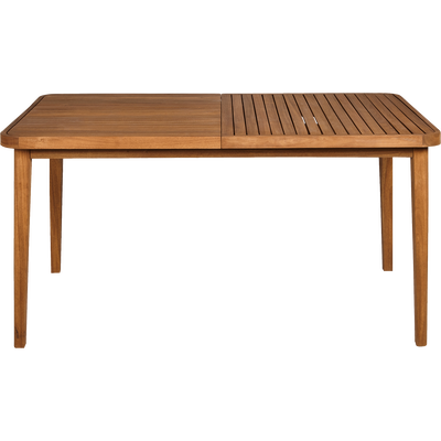 Table de jardin extensible en eucalyptus (6 à 10 places)-YOUK