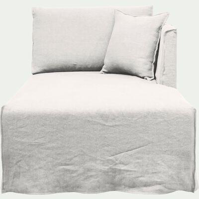 Méridienne droite en lin blanc capelan-VENCE