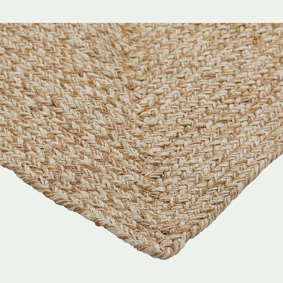 Tapis tressé en jute - naturel 160x230cm-LENGO