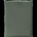 Drap plat en coton Vert cèdre 270x300cm-CALANQUES