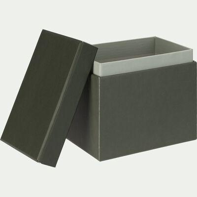 Boîte rectangulaire en carton - vert L12xl8xH10,5cm-LAURIER