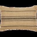 Coussin en lin à rayures noires 30x50 cm-OASIS
