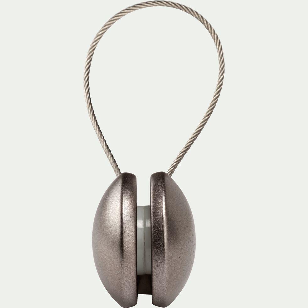 Embrasse magnétique métallisé - gris anthracite-TILT