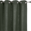 Rideau à oeillets en lin lavé vert cèdre 140x280cm-VENCE
