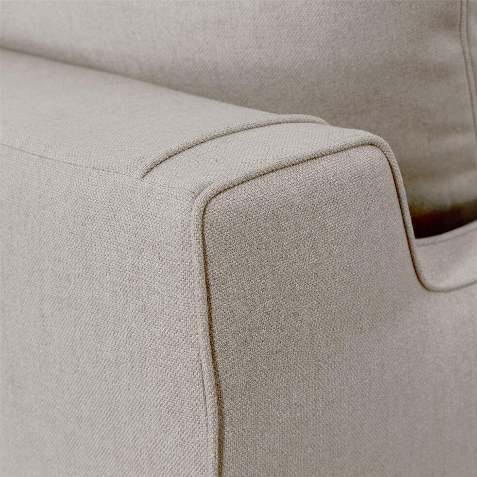 Canapé 2 places convertible en tissu - gris borie-LENITA