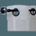 Kit tringle extensible noir laqué 210cm à 380cm-VENUS
