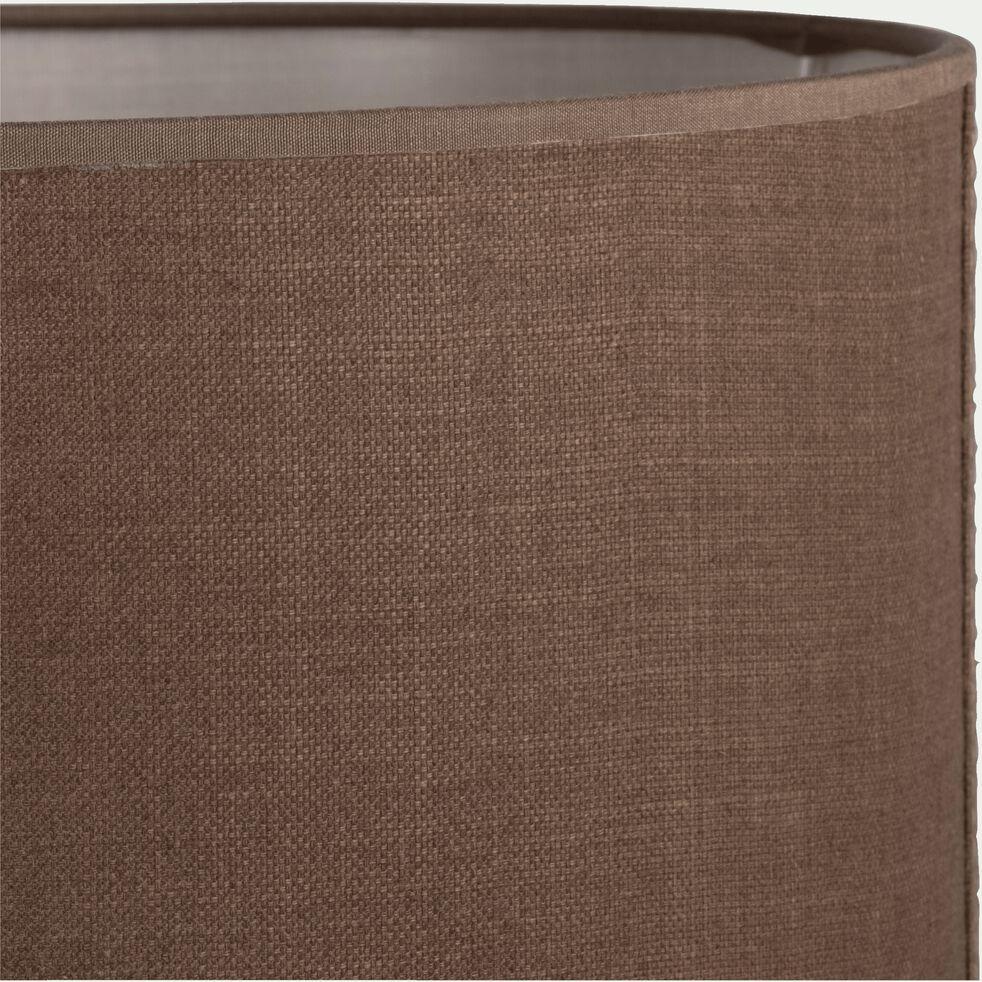 Abat-jour en tissu - D30cm brun châtaignier-MISTRAL