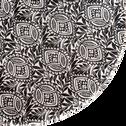 Assiette à dessert en grès noir décoré D21cm-AMANDE