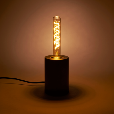 Ampoule LED décorative ambre H20cm culot E27-TUBE