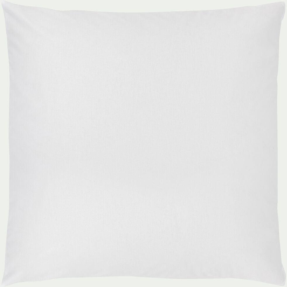Lot de 2 taies oreiller en coton - blanc 65x65cm-CALANQUES
