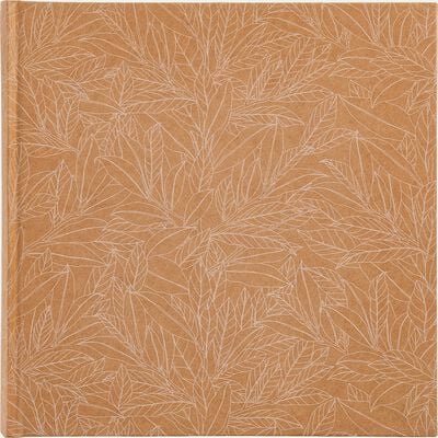 Album photo motif Laurier - beige 25x25cm-LAURIER