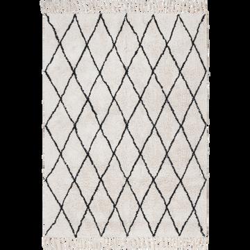 Tapis tissé de style berbère écru 120x170 cm-TRIPOLI