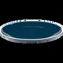 Assiette plate en faïence bleu figuerolles D27cm-CAMELIA