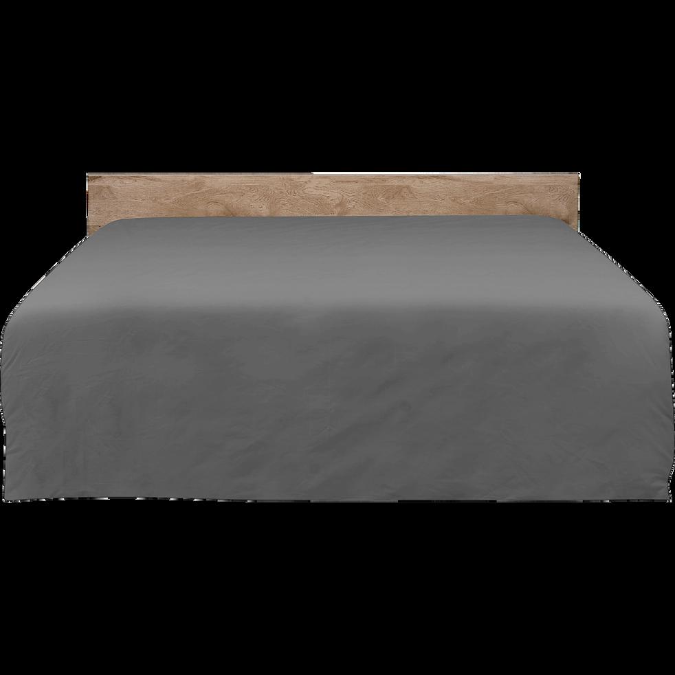 t te de lit ch ne cendr pour lit l140 cm et l160 cm brooklyn l160 cm t tes et tiroirs de. Black Bedroom Furniture Sets. Home Design Ideas