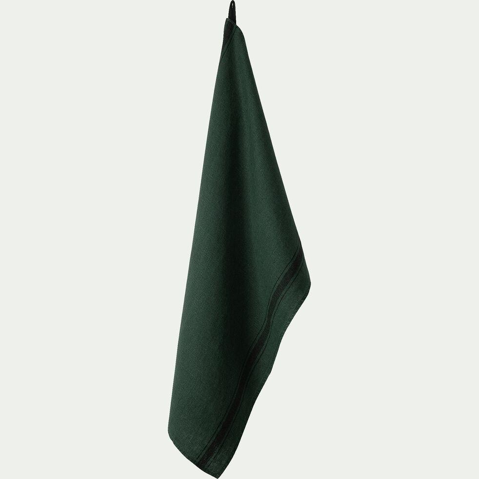 Torchon en lin vert 46x70cm-GIARA