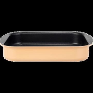 Plat à four rectangulaire en aluminium rose argile 20x25cm-PINTO