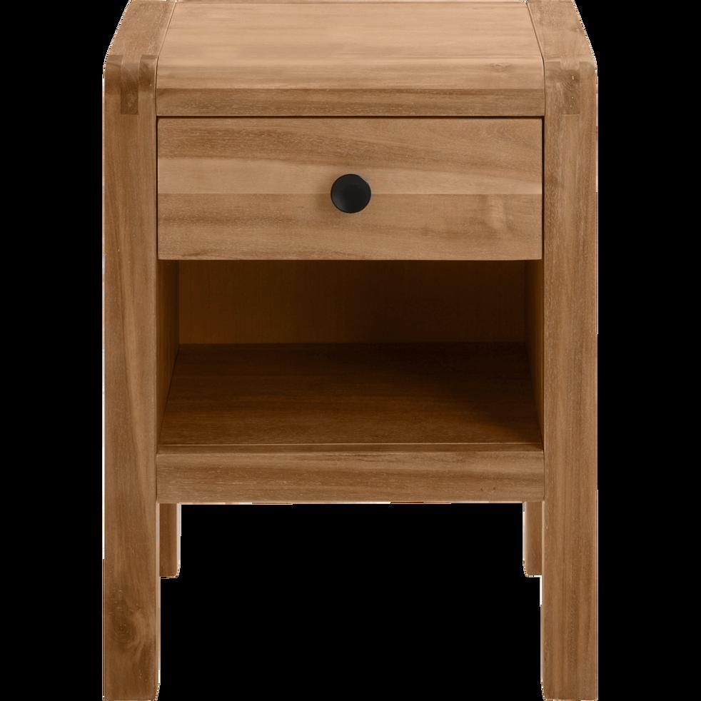 table de chevet en acacia massif 1 tiroir gaia tables. Black Bedroom Furniture Sets. Home Design Ideas