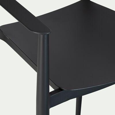 Chaise de bar en aluminium empilable - noir-DOMINGOS