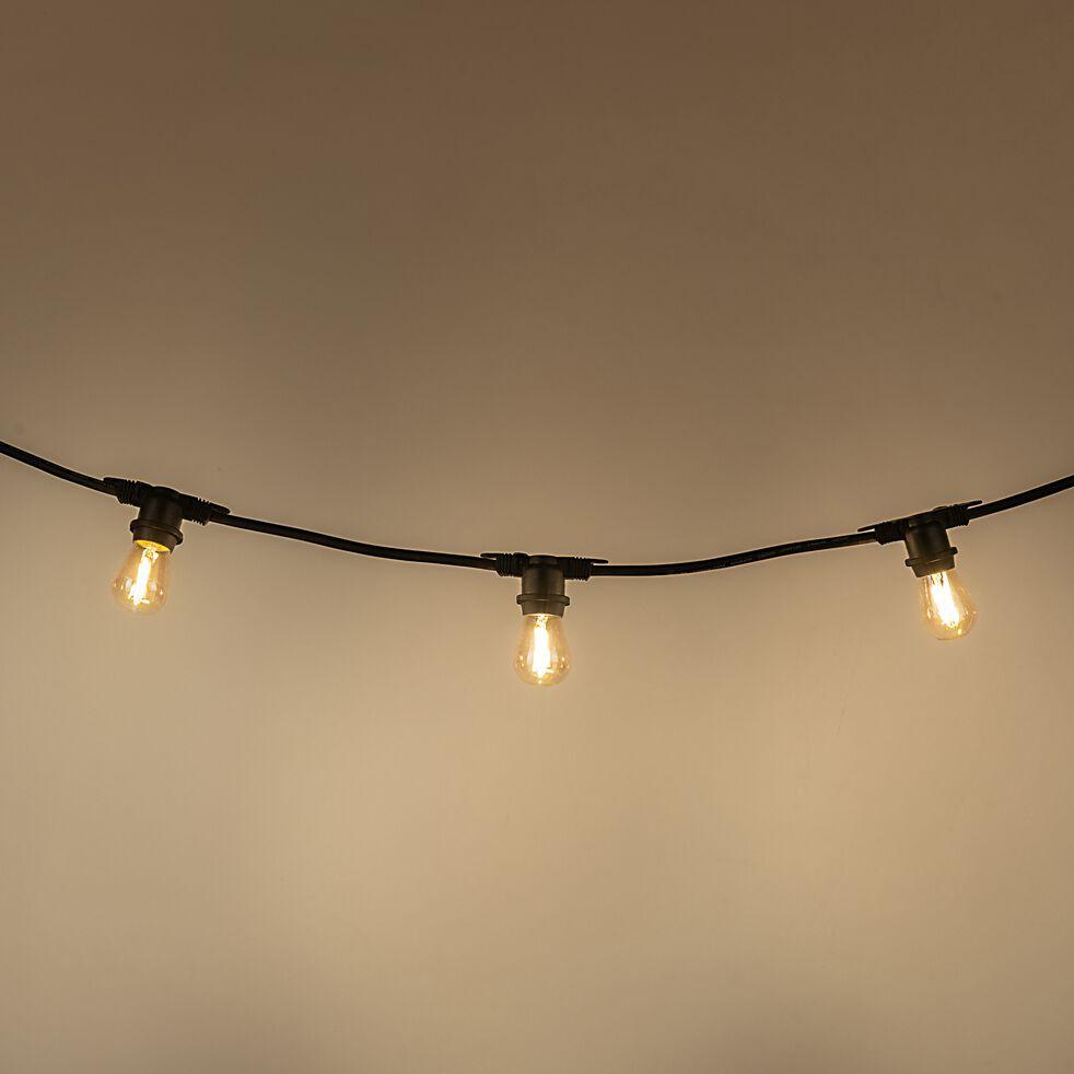 Guirlande électrique d'extérieur 10 ampoules - noir 5m-LINK