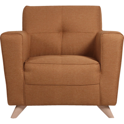Fauteuil en tissu jaune d'or-VICKY