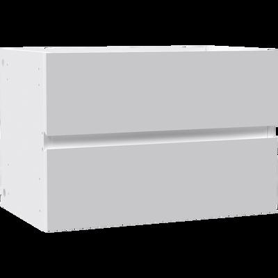 Bloc 2 tiroirs blancs pour meuble à cases L52cm-BRIK