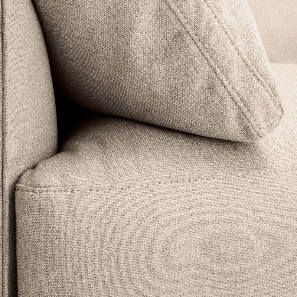 Canapé 2 places fixe en tissu - beige roucas-LENITA